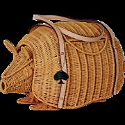 Kate Spade Armadillo Wicker Handbag