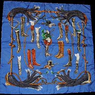 "Hermes Silk Scarf  ""A Propos de Bottes"""