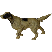 C1930 Vintage Cast Iron Setter Dog Doorstop