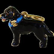 Sol Basha 18K Gold Black Labrador Dog Pendant/Charm