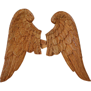Georgian French Carved Wood Gilded Angel Wings