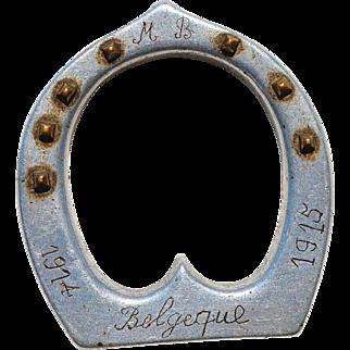 """WW1 Belgium Trench Art ~ """"Belgeque 1914 - 1915"""""""