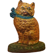 Antique Cast Iron Cat Doorstop