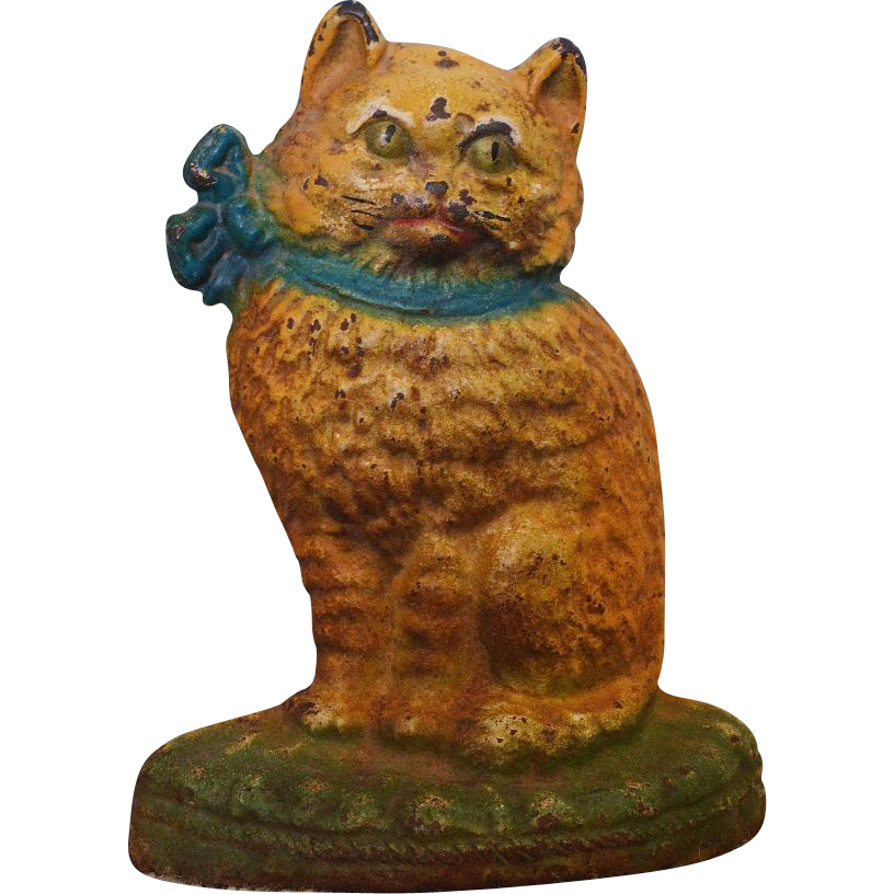 Antique Cast Iron Cat Doorstop From Antiquepooch On Ruby Lane