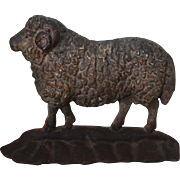 Antique Cast Iron Ram Sheep Doorstop