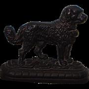 Antique Cast Doorstop ~ Newfoundland Dog / Saint Bernard