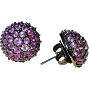 Vintage MCL by Matthew Campbell Laurenza Pink Sapphire Earrings