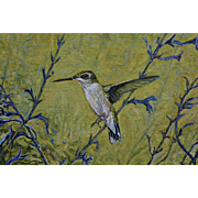 Hummingbird Oil Painting