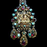 Antique Austro-Hungarian Pelican Pendant/Brooch