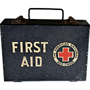 WW2 Era American National Red Cross Military First Aid Box