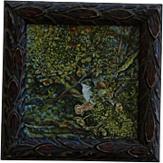 Female Ruby-Throated Hummingbird Oil Painting