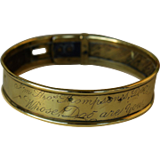 "Antique Brass Dog Collar ~ ""I'm Thos. Thompson's Dog Whose Dog Are You"""