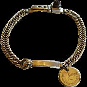 "Antique French Dog Collar ~ ""Madame Gouget 118 Rue du Temple - Paris"""