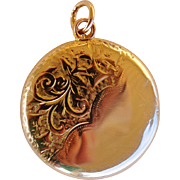 Victorian 9kt Gold Tri-fold Locket