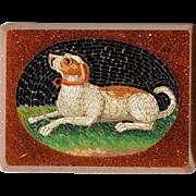 Georgian Micromosaic Hound ~ Micro Mosaic Dog Plaque