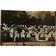 "Antique Postcard ~ Dog Cemetery ""Hyde Park, London"""
