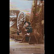 WW1 French Postcard ~ Red Cross Dog