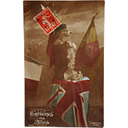 WW1 French Postcard ~ Faithful Dog