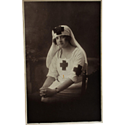WW1 French RPPC Postcard ~ Red Cross Nurse