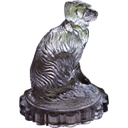 Victorian Glass Dog Paperweight