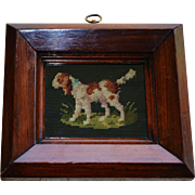 Small Antique Dog Needlework