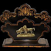 Victorian Papier Mâché Letter Stand ~ Pair Of Horses