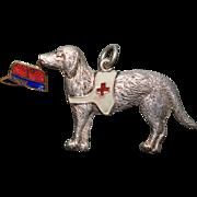 "WW1 French Red Cross Dog Fund Raising Medal ~ ""Porte Bonheur 1914-15"""