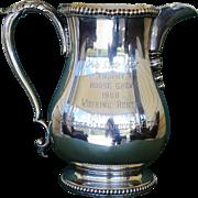 Silver Firestone Horse Show Trophy