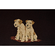 Charming Dog Needlework ~ Wire Fox Terrier Pair