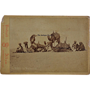Antique Cabinet Photograph ~ Rare Photograph Bedoins With Camels By Pascal Sebah