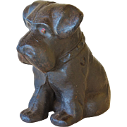Antique Cast Iron Scottie Dog Doorstop ~ Scottish Terrier