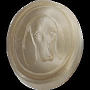 Petite Victorian Glass Wax Seal ~ Bloodhound Dog