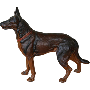 Large Hubley Cast Iron German Shepherd Dog Doorstop