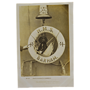 Dog Mascot Postcard British Battleship H.M.S. Barham