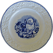 """Antique Staffordshire Plate - """"Laying Down the Law"""""""