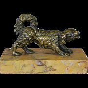 Antique 19C Bronze Dog
