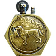 WW1 French Trench Lighter ~ Red Cross Dog