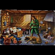 The Story Of Gelert ~ Gelert Llewelyn's Dog Postcard
