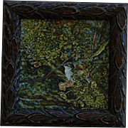 Framed Hummingbird Oil Painting