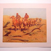 "Frederic Remington Color Relief Half Tone "" Dead Men"""