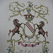 Byron Lord Coat of Arms Jacobs English Peerage 1700s