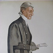 Vanity Fair Politician Sir William Rose 1885 Chromo