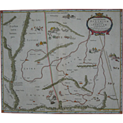 Rare Ptolemy Mercator Central Asia Antique Map Dated to 1605