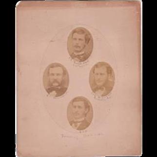 Historical Original Photograph Tammany Hall Politicians 1871 New York NY NYC