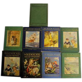 """Lot of 9 Books from 1920's and 1930's """"My Book House"""" Lot"""