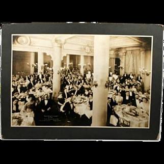 Antique Photograph The Bohemians At Hotel Majestic San Francisco CA Feb 1910