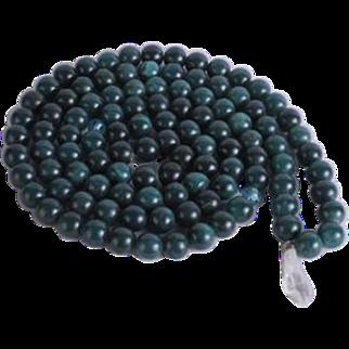 Tibetan Mala Prayer Beads Turquoise Color Agate Beads Crystal Quartz Pendant