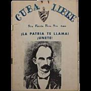 Vintage Cuba Libre Sin Patria Pero Sin Amo Anti Communism Brochure 1950s Castro