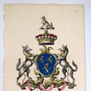 Edmondson Folio Heraldry Engraving Richard Fienes 1700's Coat Of Arms 18th C