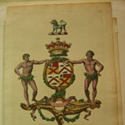 Edmondson Coat of Arms Engraving Bruce dates to 1764